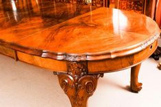 Early 20th Century Edwardian Queen Anne Revival Dining Table and 8 Chairs For Sale 1 Buy Dining Table, Walnut Dining Chairs, Antique Dining Tables, Extendable Dining Table, Dining Room Sets, Piano Stool, Walnut Burl, Walnut Furniture, Chair Height