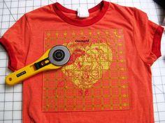 T Shirt Memory Quilt Cut Image