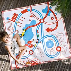 """PlayMat """"Carreteras"""" algodón ecológico de dikdikdeco.com"""