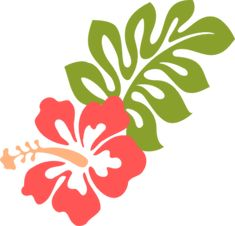 Coral Hibiscus Clip Art