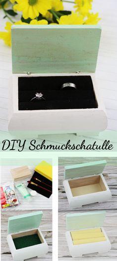Ihr möchtet eine Schmuckschatulle selber machen? Auf www.riamarleen.de gibt es die Anleitung dafür! DIY Schmuckschatulle, DIY Geschenk, Geschenkidee, Muttertag, Schmuckdose, Schmuckaufbewahrung