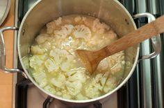 Cauliflower Soup Recipe | Homesteading Recipes | Homesteading Recipes from the Farm to Table at pioneersettler.com