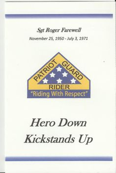 Card from Patriot Guard