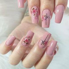 Nail Manicure, Diy Nails, Cute Nails, Pretty Nails, Red Nail Designs, Acrylic Nail Designs, Acrylic Nails, Nail Designer, 4th Of July Nails