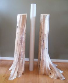 Cedar Log Basement Pole Covers