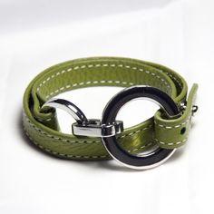 Green leather bracelet - 32,95€