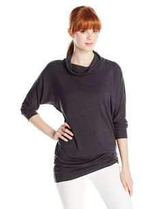 Splendid Women's Tencel Jersey Cowl Neck Tunic Top In Gray -- Unbelievable  item right here! : Fashion