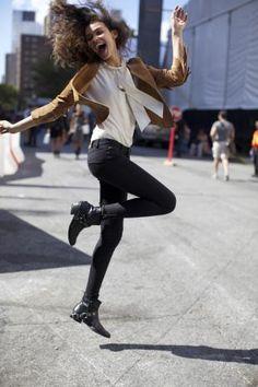 BEAUTY STREET STYLE:New York Fashion Week, Day Four   Clarins Beauty Flash Blog