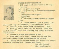 Fresh Berry Sherbert Recipe