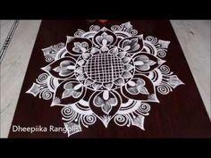 Indian Rangoli Designs, Rangoli Designs Latest, Small Rangoli Design, Colorful Rangoli Designs, Rangoli Designs Images, Beautiful Rangoli Designs, Lotus Rangoli, Kolam Rangoli, Simple Rangoli
