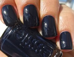 """navy blue nails - strange that when I once painted my nails these colours they were considered """"out there"""" now they are just considered a normal colour choice"""