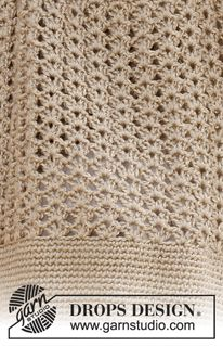 "Crochet DROPS bag in ""Lin"" and ""Cotton Viscose"". ~ DROPS Design"