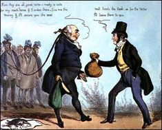"Rotten Boroughs - ""How to get made an MP"" - Heath cartoon, 1830"