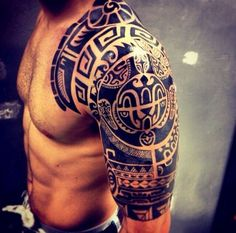 Tribal Shoulder #Tattoo #TattooIdeas