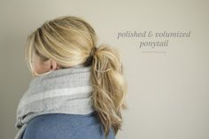 Polished & Volumized Ponytail //The main reason I wanted to share this was to prepare for scarf season! It could so easily be made more polished, and I hope the sectioning trick helps you get a good deal of volume when you recreate this on yourself!