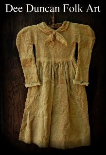 """You will truly love this brand new """"Settler's Dress"""". This is brand new line I will be doing for The Early Settlers Collection Primitive Patterns, Primitive Folk Art, Primitive Christmas, Primitive Country, Look Vintage, Vintage Country, Doll Patterns, Sewing Patterns, Art Patterns"""