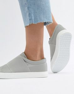 Shop London Rebel Slip On Trainers at ASOS. Slip On Trainers, Low Key, Rebel, Asos, London, Grey, Sneakers, Shopping, Fashion