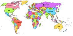 Cette carte montre les mots les plus communs sur la page Wikipedia de chaque pays