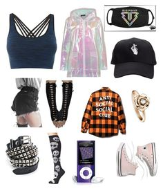"""Rainy walks"" by kawaii-dinosuar on Polyvore featuring Boohoo, Pepper & Mayne, Funk Plus, Madewell, Socksmith and Piaget"