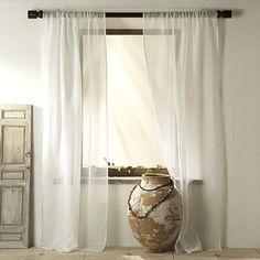 Sheer Linen Cotton - White #westelm