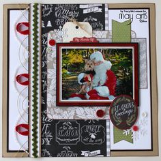 Scrapbook Layout Pink Paislee Christmas