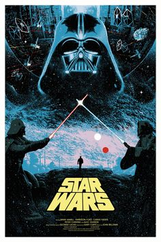 "kogaionon: "" Star Wars by Kilian Eng / Facebook / Tumblr / Twitter / Début Art / Instagram / Store 24"" x 36"" screen print, numbered edition of 15. Private commission, not for sale. "" Descubra 25 Filmes que Mudaram a História do Cinema no E-Book Gratuito em http://mundodecinema.com/melhores-filmes-cinema/"
