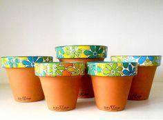 Painted Clay Pots, Painted Flower Pots, Flower Pot Art, Card Making Designs, Cement Pots, Clay Pot Crafts, Plant Drawing, Diy Planters, Terracotta Pots