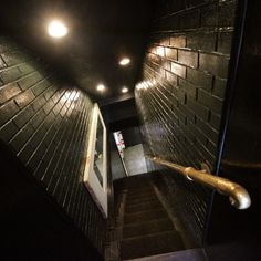 Speakeasy basement stair idea