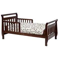<li>Introduce your child to her own big girl's bed with this toddler sleigh bed<li>Proper first transition from the crib before moving to a twin or full size bed<li>Toddler's sleigh bed is a great piece of kids' furniture