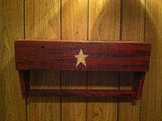 Primitive Country shelf with towel rack by DedesCountryCrafts, $24.99