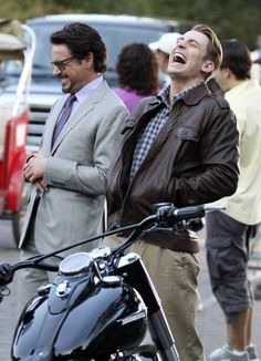 Robert Downey Jr. and Chris Evans... I cannot express how much I look up to these men :)