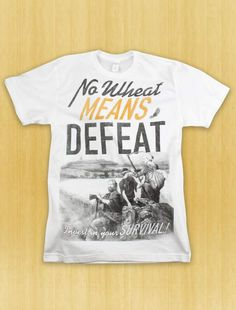 No Wheat Means Defeat  |  Settlers of Catan Tee with accurate advice