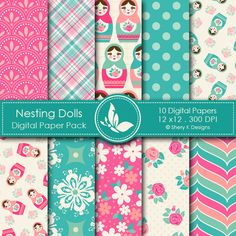 Description:  *This listing is for 10 printable High Quality Digital papers.  *Each paper measures 12 x 12 inch, 300 DPI.  *The files are in JPEG format.  *These papers can be printed on 11 x 8.5 inch size paper, and by any inkjet or laser printers.  *Great for scrapbooking, making cards, invitations, tags and photographers.  *The files should not be shared or sold.