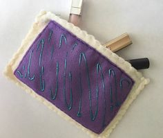 Felt Breakfast pastry with purple frosting and teal blue berry