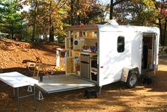 Camper Awnings– Safeguard Yourself From The Rain When Camping – Locations To Camp Enclosed Trailer Camper Conversion, Enclosed Cargo Trailers, Cargo Trailer Conversion, Tiny Trailers, Camper Trailers, Utility Trailer Camper, Travel Trailers, Converted Cargo Trailer, Mini Camper
