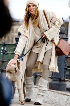 Well No - but leg warmers are fabulous era 70's - 80's - all you needed to complete or balance an outfit - even with bare feet  . .