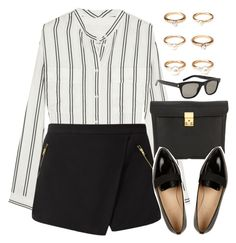 """""""Style #10684"""" by vany-alvarado ❤ liked on Polyvore featuring J.Crew, Forever 21, 3.1 Phillip Lim and Yves Saint Laurent"""