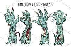 Buy Zombie Hand Set by vectortatu on GraphicRiver. Zombie hand set isolated on white background. Grab reaching zombies arms with blood and decay vector illustration Zombie Drawings, Eagle Emblems, Cartoon Clouds, Camouflage Patterns, Cartoon Monsters, Chandler Riggs, Rick Grimes, Silhouette Vector, Abstract Art