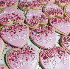 Sprinkle Hearts - Recipes and Drinkzzz - . - Valentines Sprinkle Hearts – Recipes and Drinkzzz – -Valentines Sprinkle Hearts - Recipes and Drinkzzz - . - Valentines Sprinkle Hearts – Recipes and Drinkzzz – - 70 Valentines Day Cookies that'll . Valentine Desserts, Valentines Day Cookies, Valentine Cookies, Valentines Day Treats, Valentine Food Ideas, Easter Cookies, Birthday Cookies, Valentines Hearts, Christmas Cookies