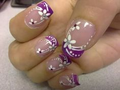 27 New ideas french pedicure toes white flowers Fancy Nails, Diy Nails, Cute Nails, Pretty Nails, French Nail Art, French Tip Nails, French Tips, Nail Designs Spring, Nail Art Designs