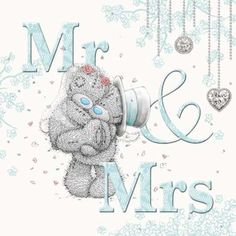 Holographic Mr & Mrs Me to You Bear Wedding Card : Me to You Bears Online - The Tatty Teddy Superstore. Teddy Images, Teddy Bear Pictures, Cute Images, Cute Pictures, Tatty Teddy, Teddy Beer, Bear Wedding, Blue Nose Friends, Bear Illustration