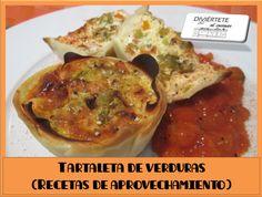 TARTALETAS DE VERDURAS (VÍDEO AQUI: https://www.youtube.com/watch?v=EYf_oHrdnKo) /// Sígueme también en: Mi canal de youtube, Buscame en Bloger, Facebook, Instagram y Twitter como divertetealcocinar. Recuerda que cocinar puede ser divertido!!! Adios!!!