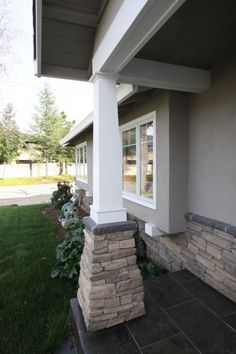 exterior column.  Something to think about for May when I do the outside of the house.  hmmmmm