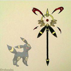 Umbreon, weapon; Pokemon