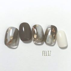 ネイル ネイル in 2020 Dream Nails, Love Nails, How To Do Nails, Pretty Nails, My Nails, Simple Nail Designs, Gel Nail Designs, Japan Nail Art, Autumn Nails