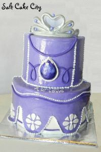 Salt Cake City Sofia the First Birthday Cake