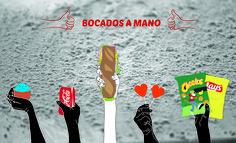 Lidia Besance Otegui//  IDEA_ Sobre una textura de harina una selección de productos, de los que destaca el bocadillo estrella. Todo ello representa el slogan.