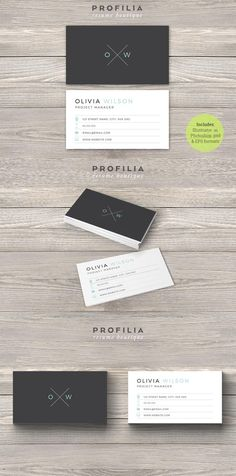 #businesscard #design from Profilia Resume Boutique | DOWNLOAD: https://creativemarket.com/Profilia_Resume/660942-Modern-Business-Card-Template?u=zsoltczigler