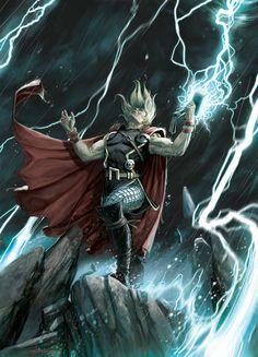 #Thor (Thor Odinson) Comic Book Heroes, Comic Book Characters, Marvel Characters, Comic Books Art, Book Art, Epic Characters, Batman Robin, Marvel Comics, Marvel Heroes