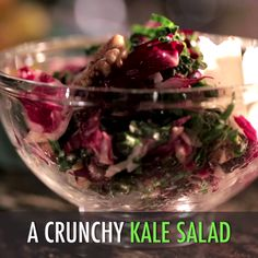 Guy's Crunch Kale Salad packs big taste and big nutrition with crunchy walnuts and salty pecorino